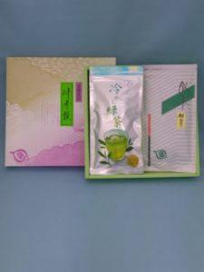 水出し煎茶と深蒸し茶のセット 進物は板橋区高島平にあります㈱時田園です